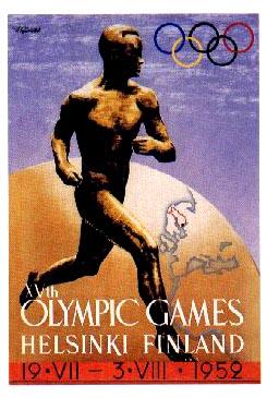 1952 Olympic Poster Finland Helsinki Ebay